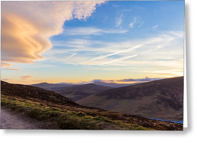 Heathland Greeting Cards - Sally Gap in Wicklow Mountains in the evening Greeting Card by Semmick Photo