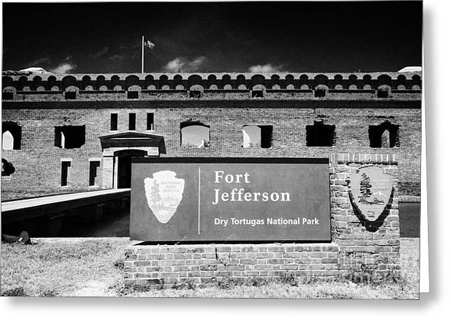 Dry Tortugas Greeting Cards - Sally Port Entrance To Fort Jefferson Dry Tortugas National Park Florida Keys Usa Greeting Card by Joe Fox