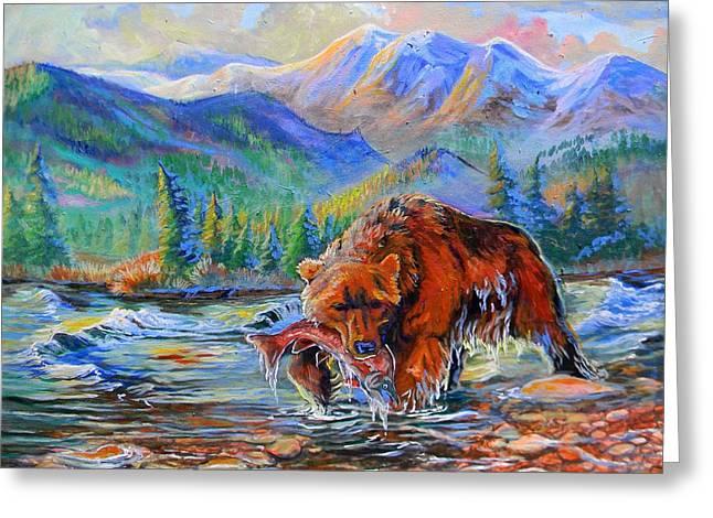 Salmon Creek  Greeting Card by Jenn Cunningham
