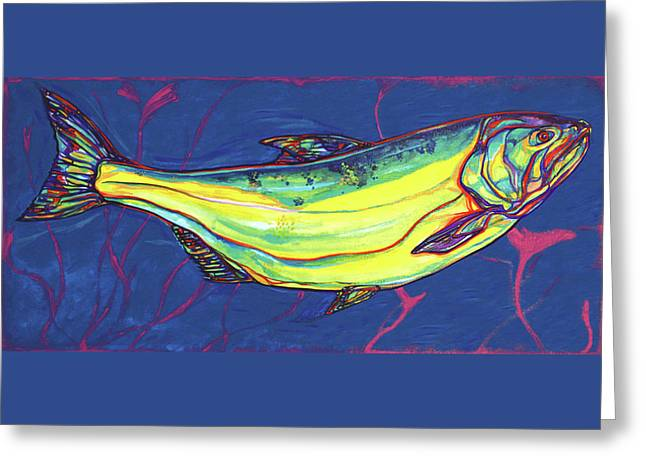 Fionn Mac Cumhaill Greeting Cards - Salmon of Knowledge Greeting Card by Derrick Higgins