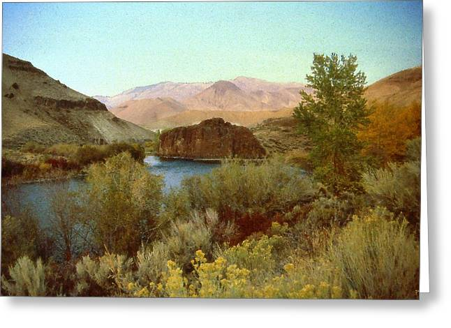 Salmon Drawings Greeting Cards - Salmon River Idaho - Landscape Greeting Card by Peter Fine Art Gallery  - Paintings Photos Digital Art