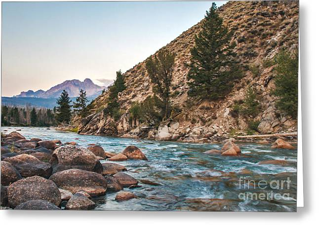 Salmon River In The Twilight Greeting Card by Robert Bales