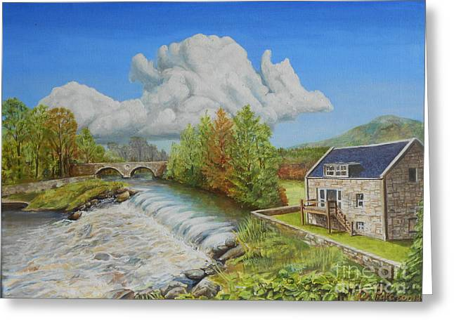 Salmon Paintings Greeting Cards - Salmon Step Greeting Card by David Paterson