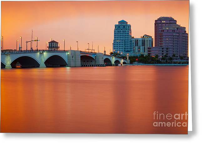 Ddmitr Greeting Cards - Salmon Sunset Greeting Card by Dmitry Chernomazov