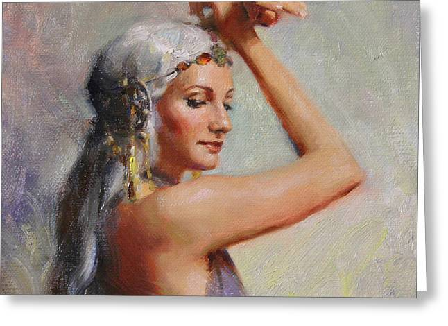Gypsy Paintings Greeting Cards - Salome Greeting Card by Anna Rose Bain