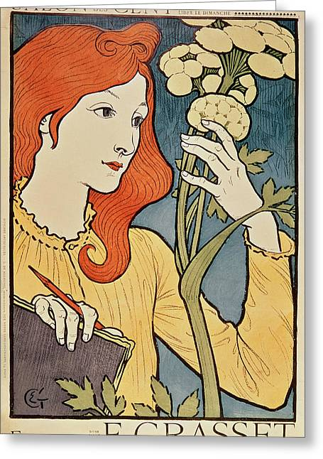 Salon Des Cent Greeting Card by Eugene Grasset