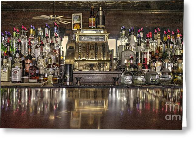 Texas Boots Greeting Cards - Saloon Register  Greeting Card by Rob Hawkins