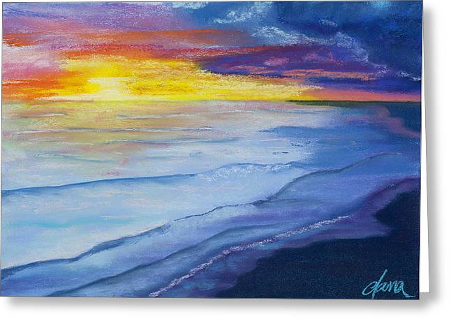 Beach Sunsets Pastels Greeting Cards - Salt Air Greeting Card by Dana Strotheide