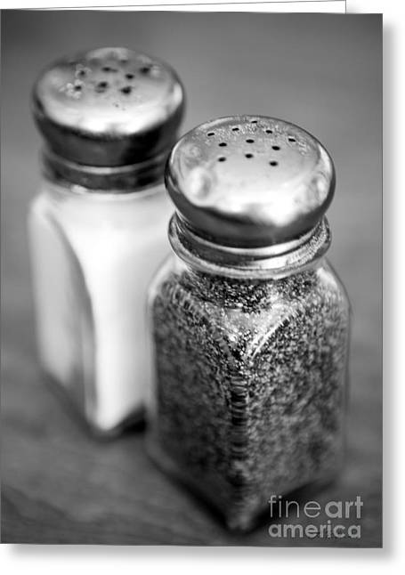 Salt Greeting Cards - Salt and Pepper Shaker Greeting Card by Iris Richardson