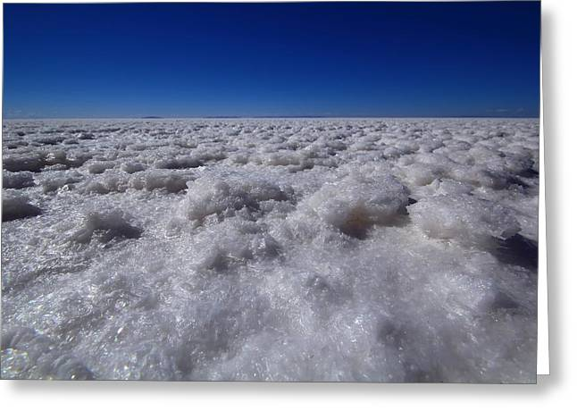 Bolivia Greeting Cards - Salt Crystals Greeting Card by FireFlux Studios