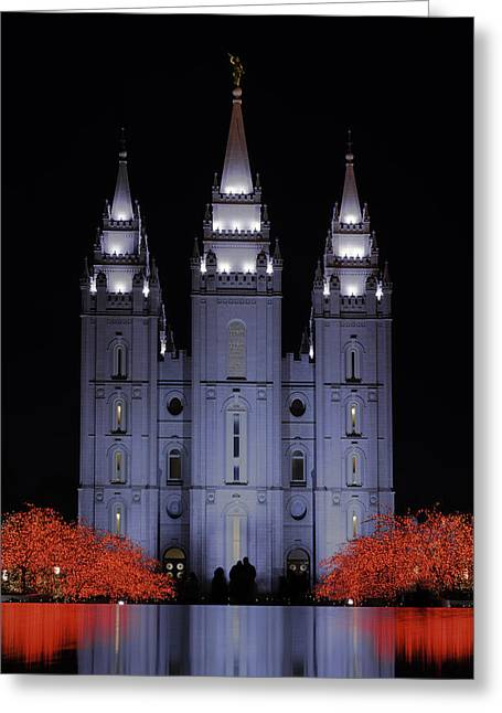 Salt Lake City - Utah Greeting Cards - Salt Lake Christmas Greeting Card by Chad Dutson