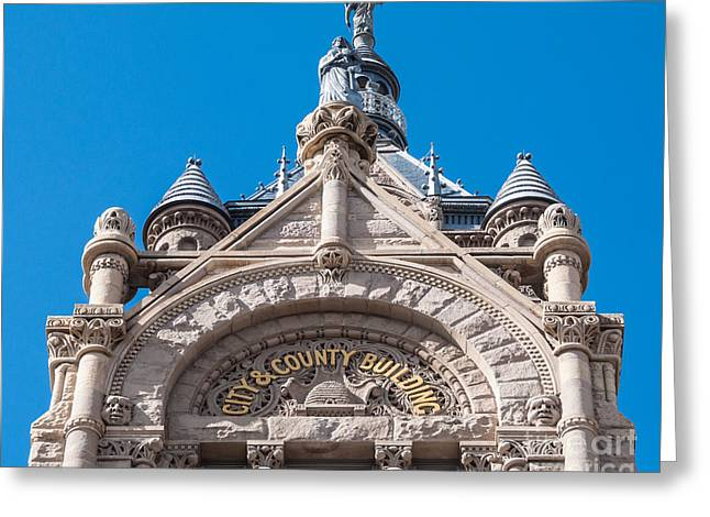 Administrative Greeting Cards - Salt Lake City and County Building Close-up Greeting Card by Gary Whitton