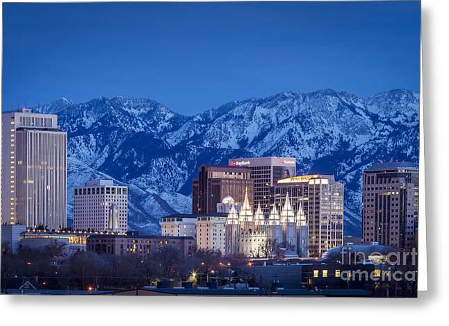 Tabernacle Greeting Cards - Salt Lake City Greeting Card by Brian Jannsen