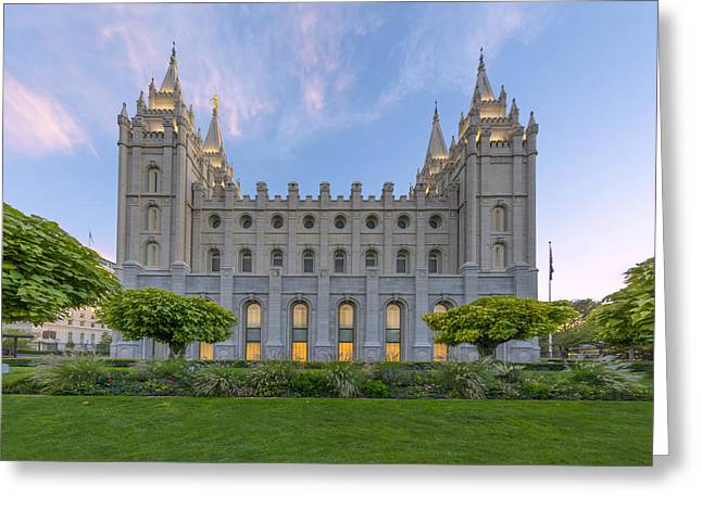 Saint Hope Greeting Cards - Salt Lake City Profile Greeting Card by Dustin  LeFevre