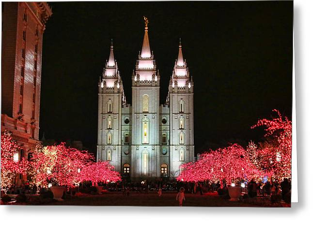 Salt Lake City Temple Greeting Cards - Salt Lake Temple - 1 Greeting Card by Ely Arsha