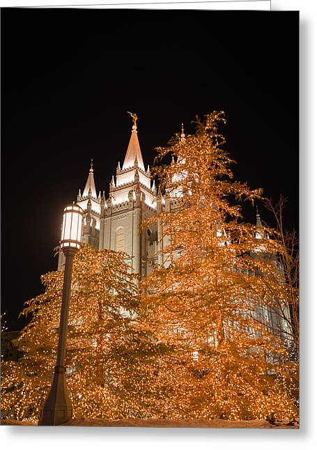 Temple Square Greeting Cards - Salt Lake Temple  Greeting Card by Dustin  LeFevre
