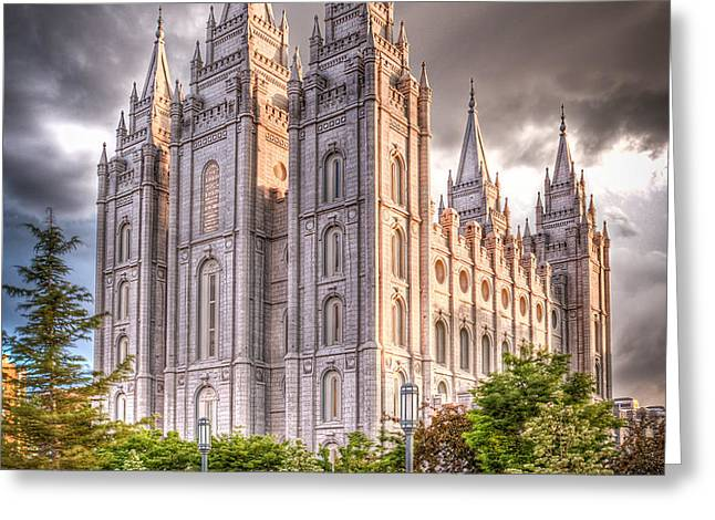 Salt Lake Temple Greeting Card by Niels Nielsen