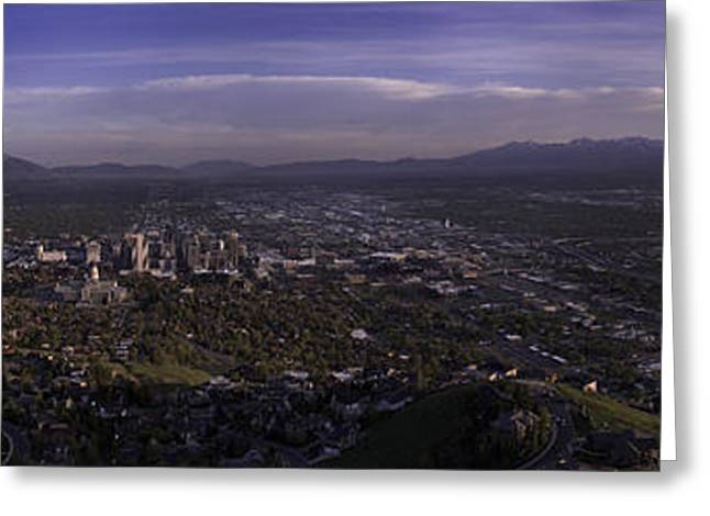 Hike Greeting Cards - Salt Lake Valley Greeting Card by Chad Dutson