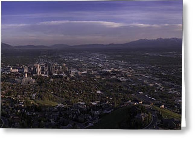 Salt Lake Valley Greeting Card by Chad Dutson