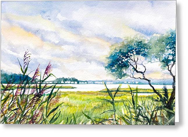 Bethany Beach Greeting Cards - Salt Marshes Delaware Greeting Card by Patricia Allingham Carlson