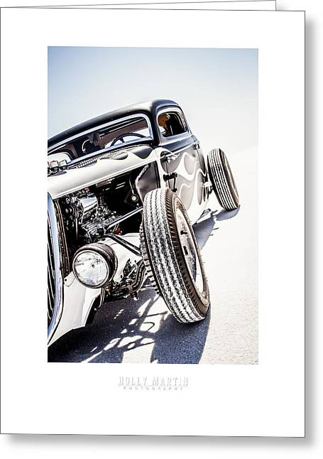 Speed Week Greeting Cards - Salt Metal Greeting Card by Holly Martin