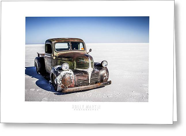 Speed Week Greeting Cards - Salt Metal Pick Up Truck Greeting Card by Holly Martin