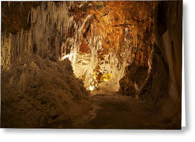 Cavern Mixed Media Greeting Cards - Salt Mines Greeting Card by Gina Dsgn