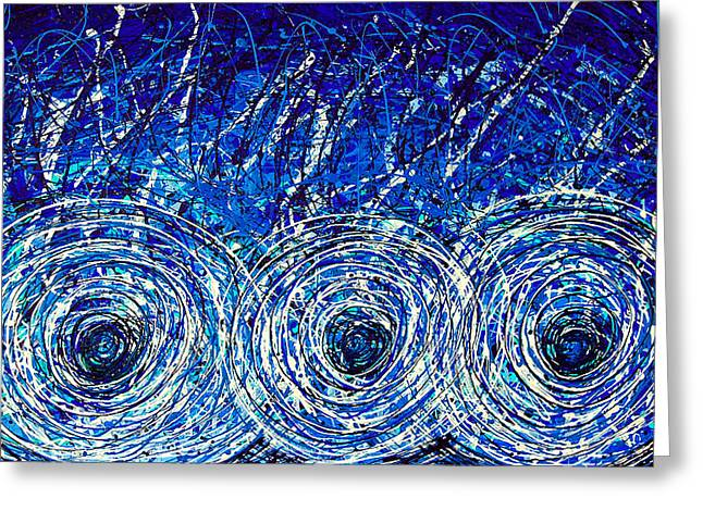 Recently Sold -  - Ultra Modern Greeting Cards - Salt of the Soul - Drip Painting Art By Commission Greeting Card by Sharon Cummings