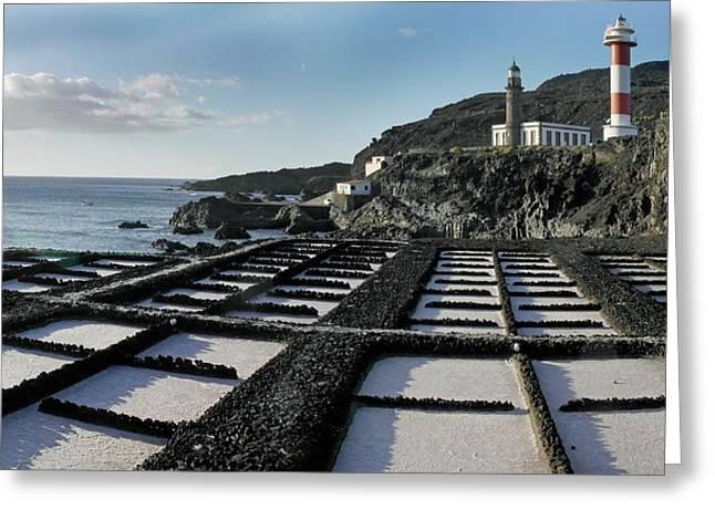 Salt Pans Greeting Card by Tony Craddock