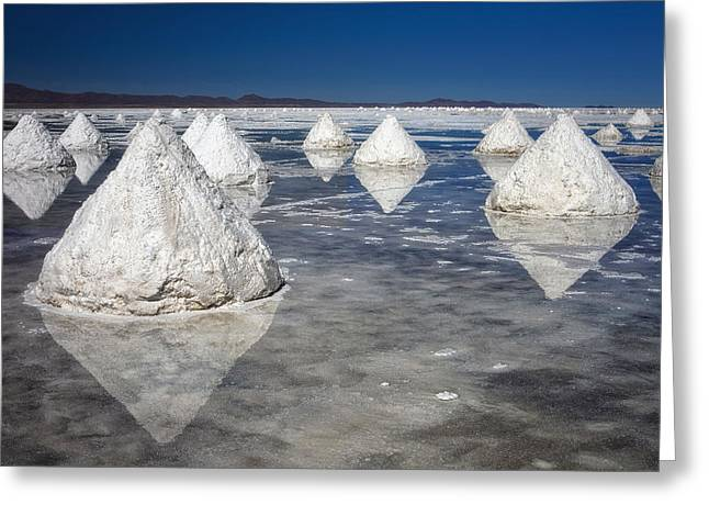 Salt Pyramids Greeting Card by Kim Andelkovic