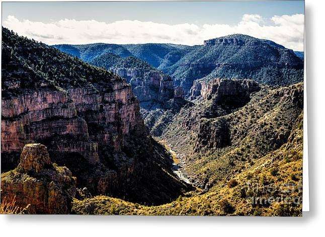 Salt River Canyon Greeting Card by Jon Burch Photography