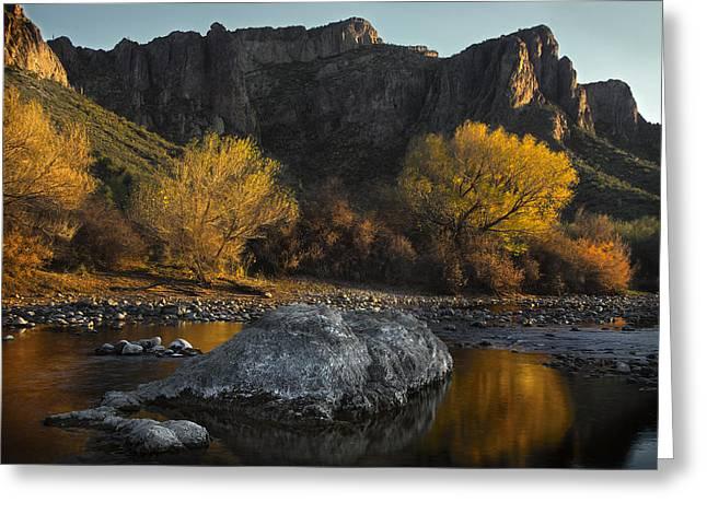 Salt River Fall Foliage Greeting Card by Dave Dilli