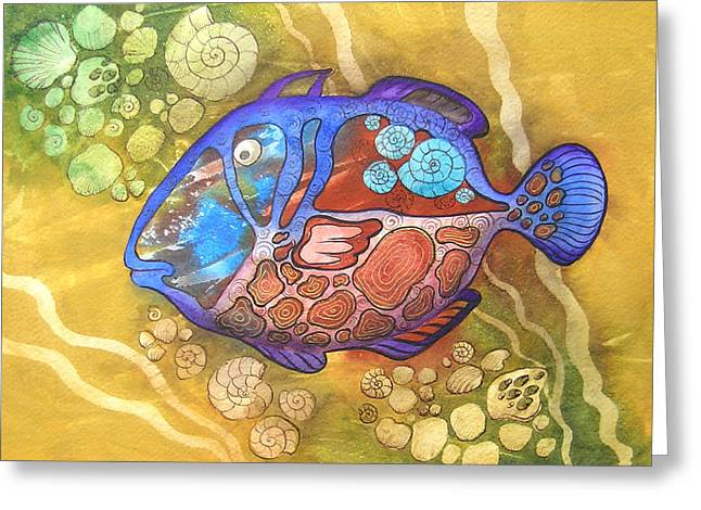 Fantasy World Greeting Cards - Salt-water fish Greeting Card by Khromykh Natalia