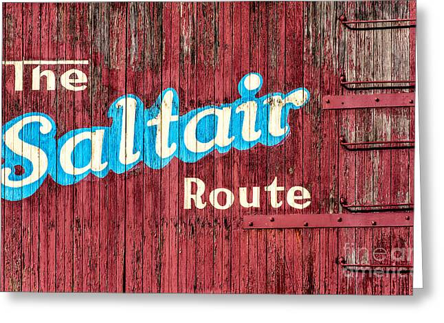 Painted Wood Greeting Cards - Saltair Route - Historic Salt Lake City Railroad Greeting Card by Gary Whitton