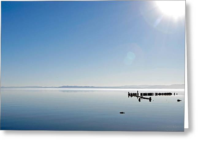 Salton Sea Greeting Cards - Salton Blue Greeting Card by Peter Tellone