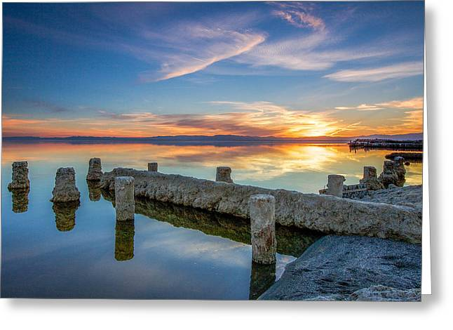 Outdoor Theater Greeting Cards - Salton Sea Mirror Greeting Card by Robert  Aycock