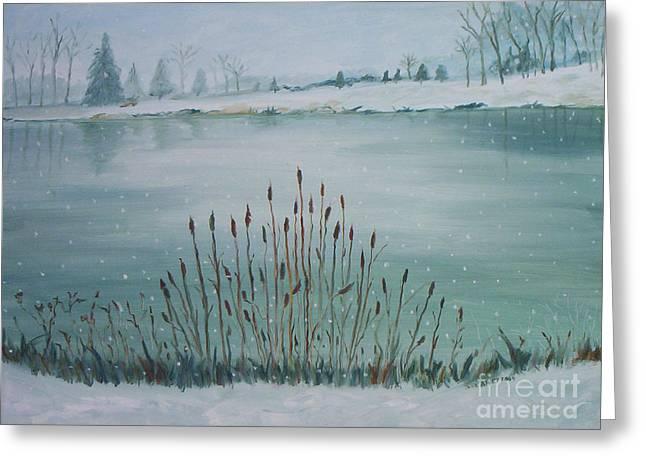 Saltville Pond Greeting Card by Julie Brugh Riffey