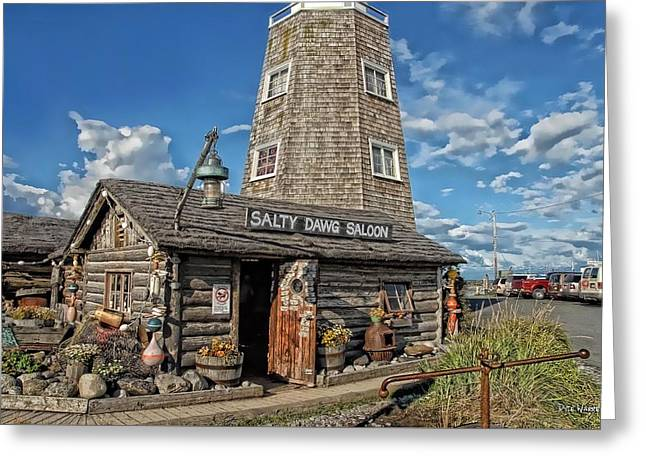 Saloons Greeting Cards - Salty Dawg Saloon Greeting Card by Dyle   Warren
