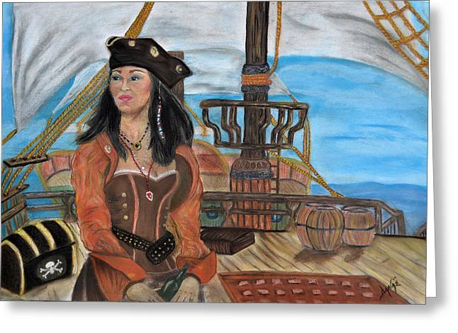 Renaissance Pastels Greeting Cards - Salty Louise Greeting Card by Danae McKillop