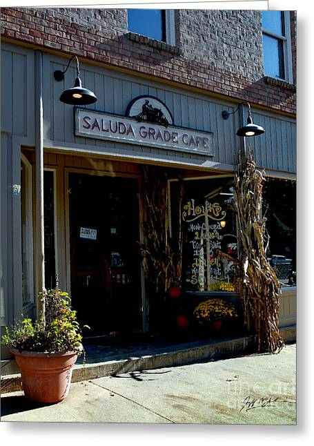 Jeff Mcjunkin Greeting Cards - Saluda Grade Cafe Saluda NC Greeting Card by Jeff McJunkin