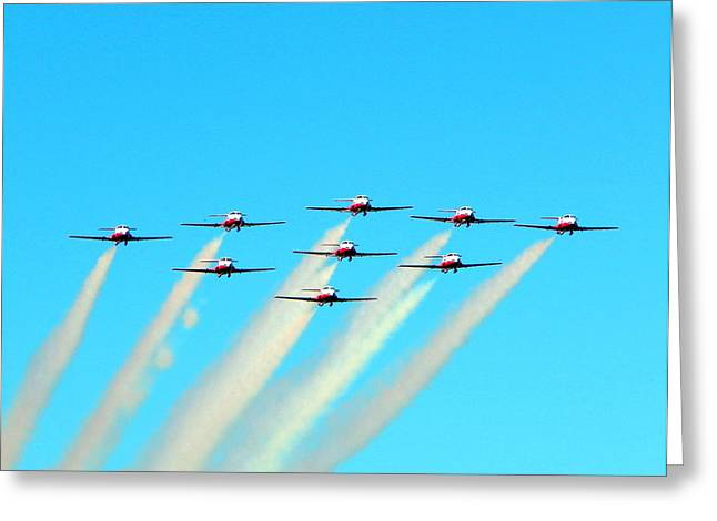Military Airplanes Greeting Cards - Salute Greeting Card by Karen Cook