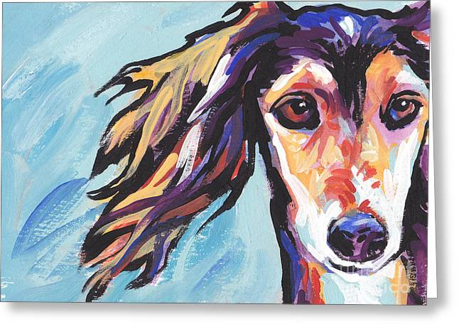 Salute The Saluki Greeting Card by Lea S