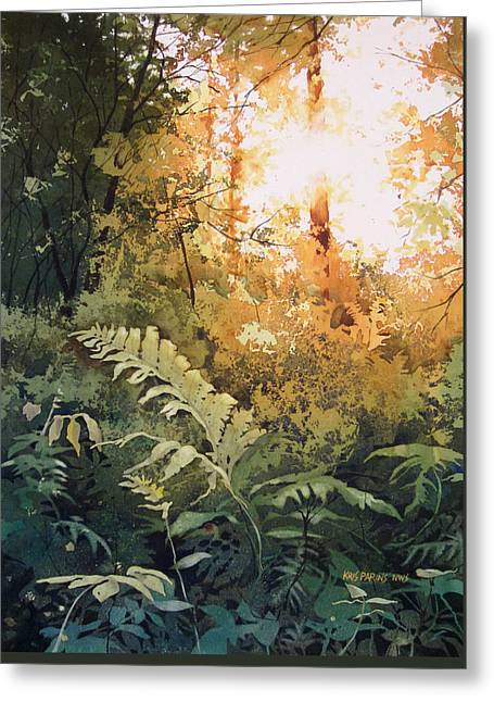 Ostrich Fern Greeting Cards - Salute to the Sun Greeting Card by Kris Parins