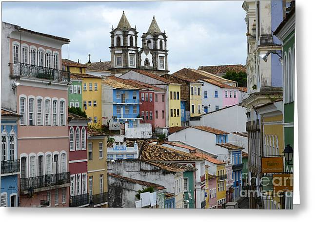 Salvador Brazil The Magic Of Color 2 Greeting Card by Bob Christopher
