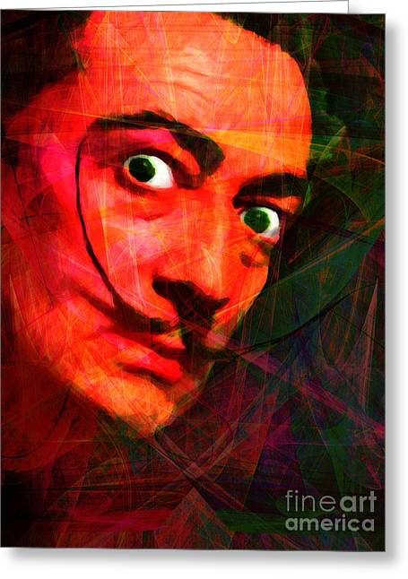 Vintage Painter Greeting Cards - Salvador Dali 20141213 v2 Greeting Card by Wingsdomain Art and Photography