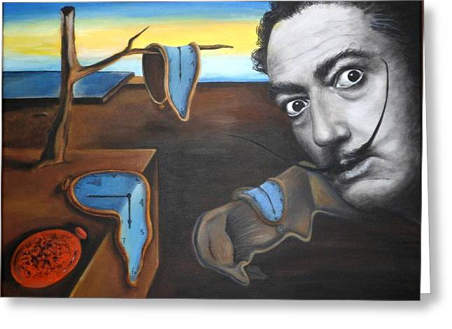 Persistence Greeting Cards - Salvador Dali Greeting Card by ELena Day