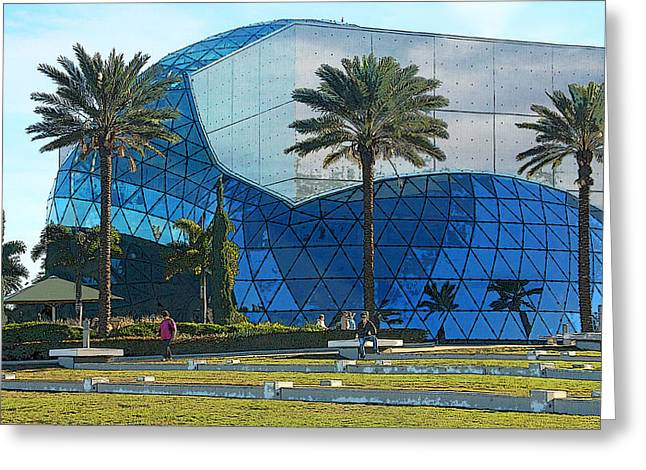 St Petersburg Florida Greeting Cards - Salvador Dali Museum Greeting Card by HH Photography