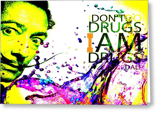 Salvador Dali Pop Art Greeting Card by Eti Reid