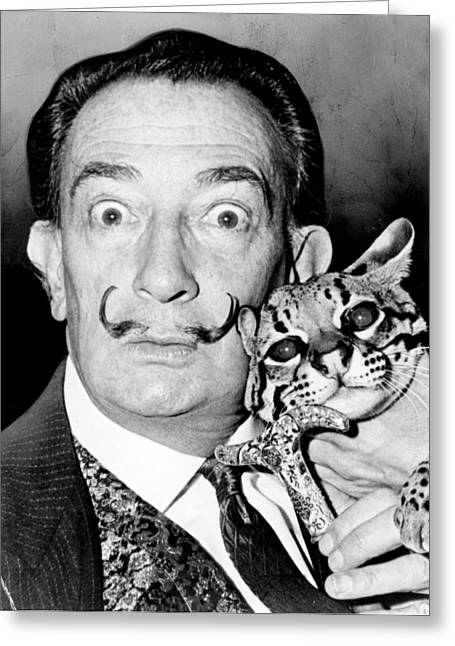Famous Artist Greeting Cards - Salvador Dali Greeting Card by Roger Higgins