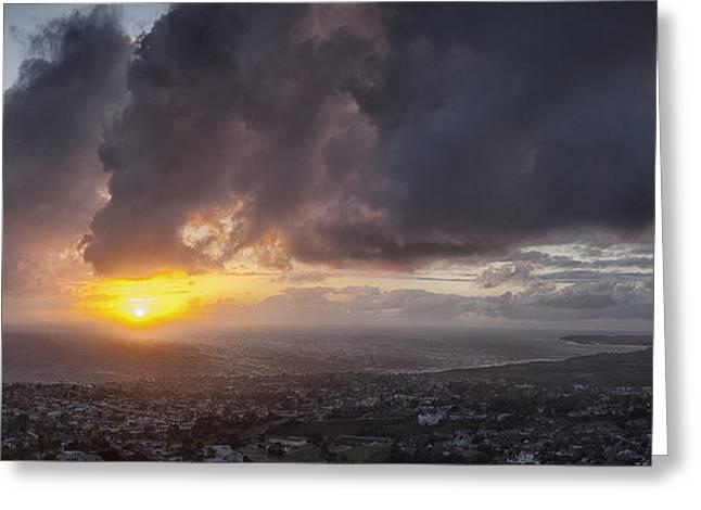 Salvador Sunset Greeting Card by Gary Zuercher